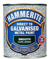 Hammerite Direct To Galvanised Metal Paint 750ml - Dark Green